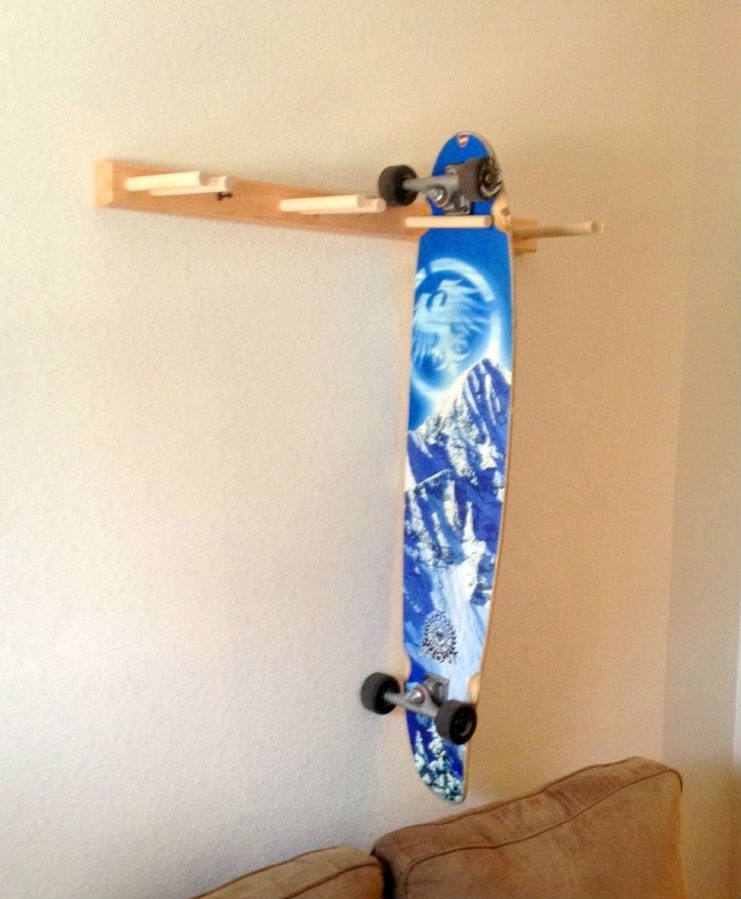 wood skateboard hanger