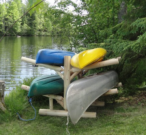 4 Sup And Kayak Storage Rack Freestanding Log Rack