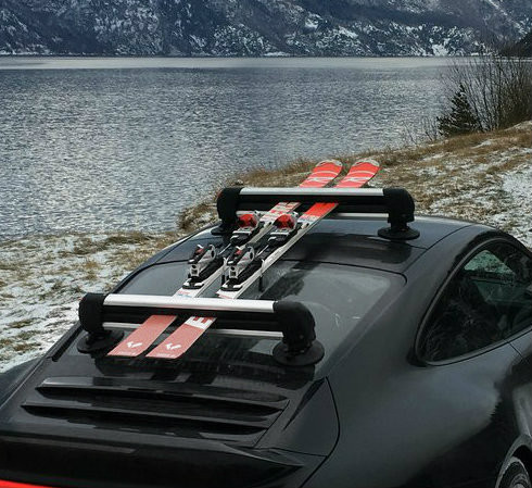 Surf Rack For Car >> Universal Suction Mount Ski Roof Rack | SeaSucker - StoreYourBoard.com