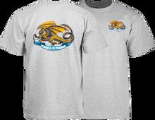 Powell Peralta - / P Oval Dragon Ss Xl - Heather Grey - Skateboard T-Shirt