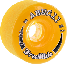 Abec 11 - Freeride Stone Ground 70mm 81a Amber/clr - Skateboard Wheels (Set of Four)