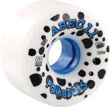 Abec 11 - Polka Dots 64mm 81a Wht/blue - Skateboard Wheels (Set of Four)