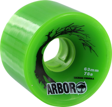 Arbor - Biothane 63mm 78a Green (Wheels - Set Of Four)