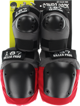 187 - Combo Pack Knee/elbow Pad Set L/xl-grey/red