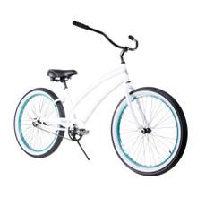 ZF Bikes - Beach Cruiser Bike - Cheetah - White