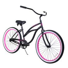 ZF Bikes - Beach Cruiser Bike - Classic Women - Black