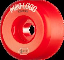 Mini Logo - A-cut Hybrid 53mm 90a Red Ppp (Skateboard Wheels - Set of 4)