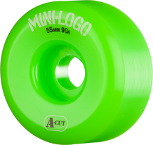 Mini Logo - A-cut Hybrid 55mm 90a Green Ppp (Skateboard Wheels - Set of 4)