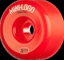 Mini Logo - A-cut Hybrid 55mm 90a Red Ppp (Skateboard Wheels - Set of 4)