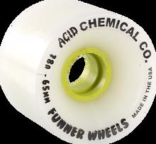 Acid - Classic Cuts 65mm 78a Wht/yel - Skateboard Wheels (Set of Four)
