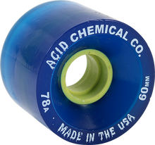 Acid - Funner 60mm 78a Navy/yel - Skateboard Wheels (Set of Four)