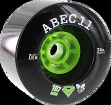 Abec 11 - Superfly Electric Flywheels 107mm 74a Black - Skateboard Wheels (Set of Four)