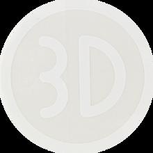 3d Skateboards - Logo Decal Wht Single - Skateboard Decal
