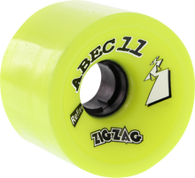 Abec 11 - Zigzags 66mm 83a Lemon - (Set of Four) Skateboard Wheels