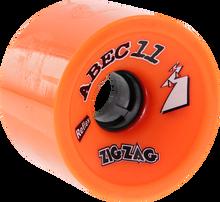 Abec 11 - Zigzags 66mm 89a Orange Plus - (Set of Four) Skateboard Wheels