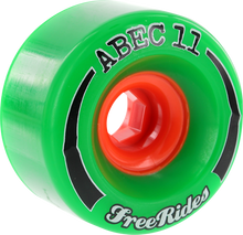 Abec 11 - Freeride Centerset 72mm 84a Green - (Set of Four) Skateboard Wheels