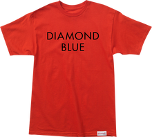 Diamond - Blue Ss S - Red / Blk - Skateboard Tshirt