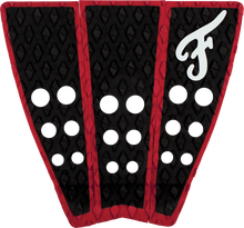 Famous - Hatteras 3pc Blk / Red Traction - Surfboard Traction