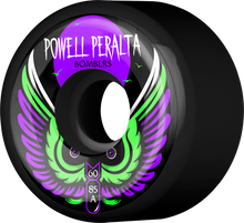 Powell Peralta - Bomber Iii 85a 60mm Black - (Set of Four) Skateboard Wheels