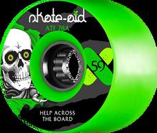 Powell Peralta - Atf 59mm 78a Skate Aid Ripper Green - (Set of Four) Skateboard Wheels