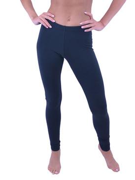 Vivian's Fashions Long Leggings - Cotton (Junior and Junior Plus Sizes)
