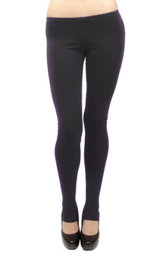 Vivian's Fashions Long Leggings - Cotton/Stirrup (Junior and Junior Plus Sizes)
