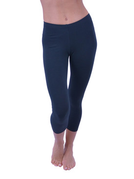 Vivian's Fashions Capri Leggings - Cotton (Junior and Junior Plus Sizes)