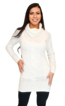 Vivian's Fashions Dress - Turtle Neck Sweater