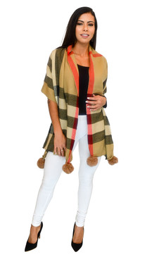 Scarf - Oversize Checker Scarf and Wrap