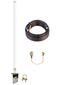 12dBi Accelerated Router / Gateway Omni Directional Fiberglass 4G LTE XLTE Antenna Kit w/100ft Coax Cable