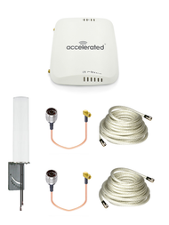 Accelerated 6310-DX LTE Router CAT 4 w/ 9dBi MIMO Antenna, 2 x 25 FT Cables + 2 x Adapters - SMA Male