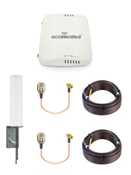 Accelerated 6310-DX LTE Router CAT 6 w/ 9dBi MIMO Antenna, 2 x 50 FT Cables + 2 x Adapters - SMA Male