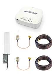 Accelerated 6335-MX LTE Router CAT 6 w/ 9dBi MIMO Antenna, 2 x 50 FT Cables + 2 x Adapters - SMA Male