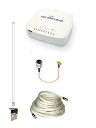 Accelerated 6335-MX LTE Router CAT 6 w/ 12dBi LTE Antenna, 25 FT Cable + Adapter - SMA Male