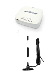 """Accelerated 6335-MX LTE Router CAT 6 w/ 13""""- XHD 8dBi Military Grade 3G 4G LTE Magnetic Mount Antenna - SMA Male"""
