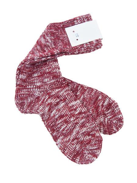 Red Melange Cotton Socks