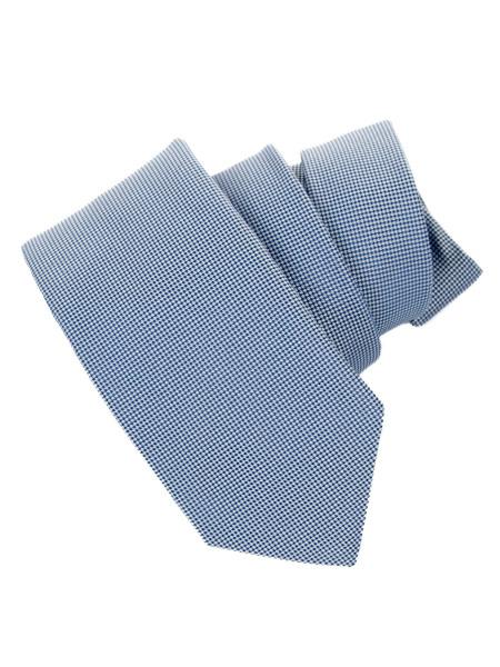 Blue, Red Or Green Superfine Houndstooth Silk Tie