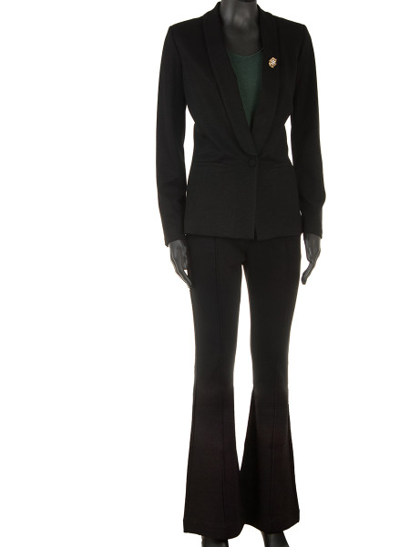 Black Sparkle Tuxedo Blazer