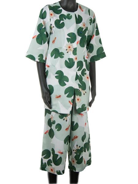 Green Floral Summer Coat