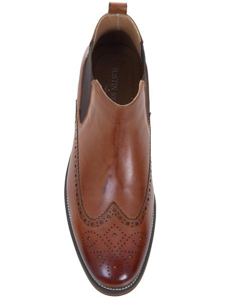 Cognac Brogue Chelsea Boot