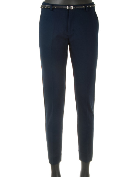Navy Slim Fit Jersey Pants