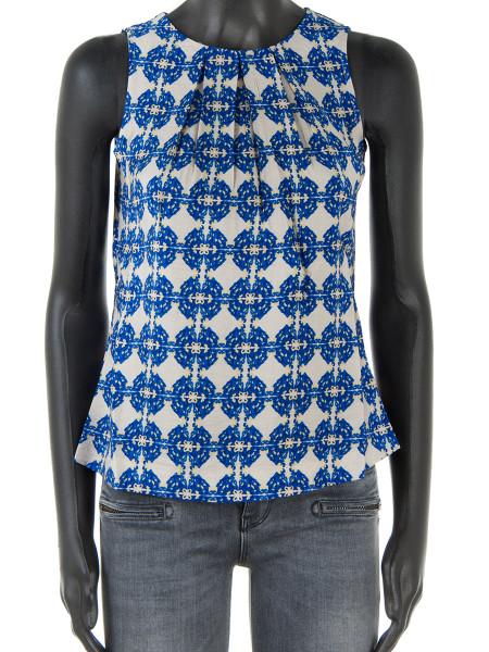 Royal Blue Patterned Short Top