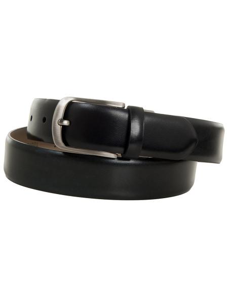 Black Classic Box Calf Leather Belt