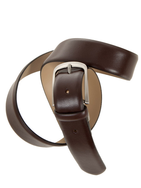 Brown Classic Box Calf Leather Belt