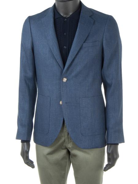 Ocean Blue Linen & Cotton Blend Blazer