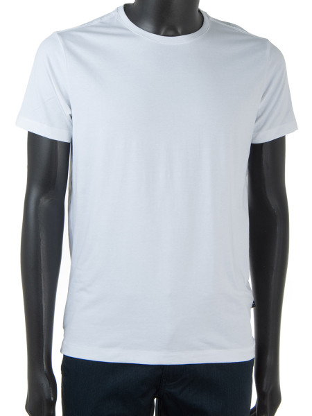White Stretchy Cotton T-Shirt