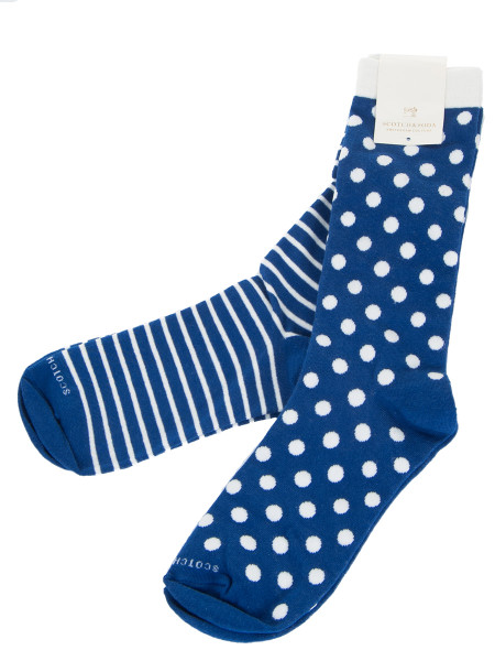 Blue 2-Pack Motif Socks