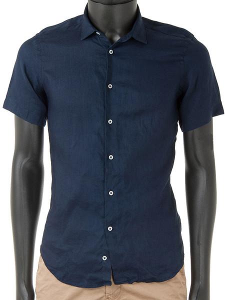 Navy Light Linen Shirt