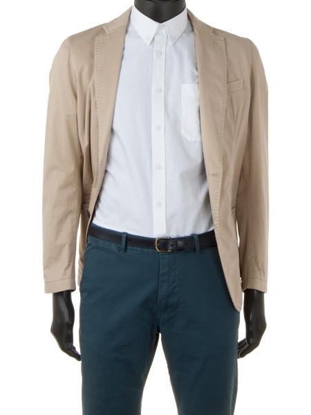 White Clean-Cut Cotton Shirt