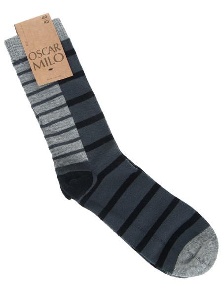 Grey & Black Striped Socks